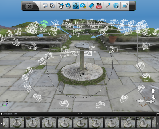 Sundial screenshot with cameras